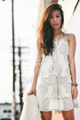 ivory boho free people dress - ivory PacSun coat