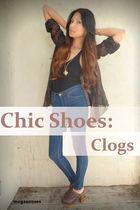 brown clogs