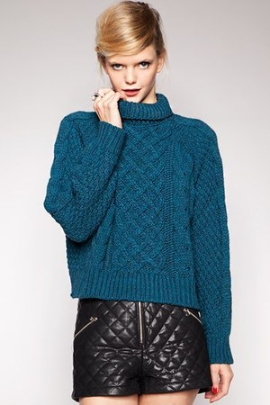 cable knit Pixie Market sweater