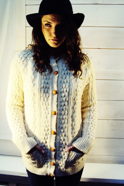 wool irish knit vintage cardigan