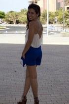 blouse - bag - skirt - sandals - earrings