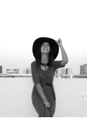 zara dress - nine west hat - sfera accessories