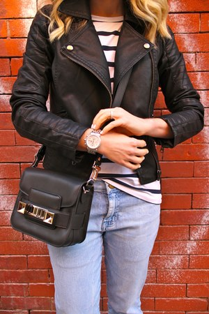 the fling Current Elliott jeans - leather PROENZA SCHOULER bag