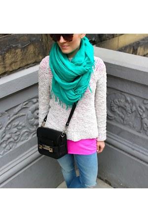 MOTHER Denim jeans - Chan Luu scarf