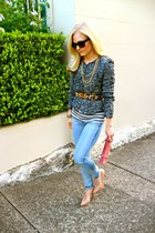 Zara shirt - J Brand jeans - Of Two Minds jacket - suede PROENZA SCHOULER purse