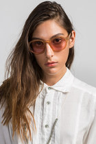 Cheap Monday Circle Glasses in Mustard