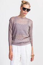 Metallic Shimmer Sheer Knit