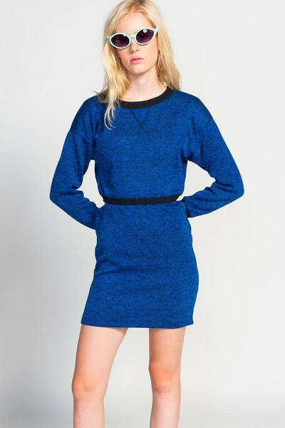 Lucca Couture Cobalt Cut-Out Dress dress
