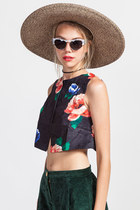Surrealist Garden Crop Top