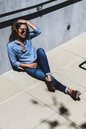 denim shirt Ralph Lauren shirt - skinny jeans Zara jeans