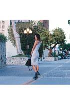 white street style Missguided dress - black Yves Saint Laurent bag