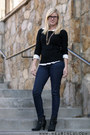 Charcoal-gray-target-boots-navy-guess-jeans-black-forever-21-sweater