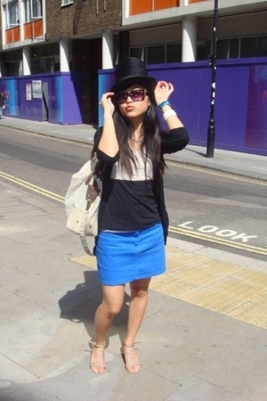 hat - D&G sunglasses - H&M t-shirt - Urban Outfitters skirt - asos shoes