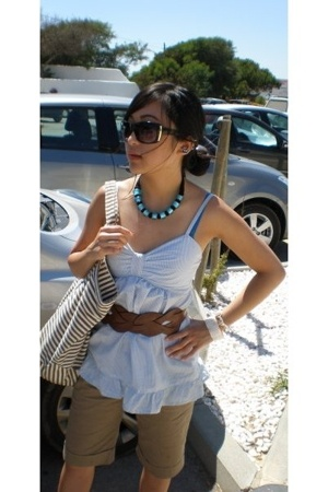 Urban Outfitters glasses - H&M top - Newlook belt - Mango shorts - Primark acces