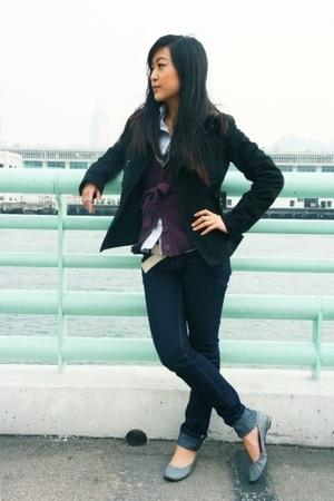 Topshop jacket - Uniqlo shirt - Mango sweater - asos jeans - new look shoes