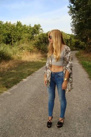 pull&bear jeans - Bershka blouse - Zara heels