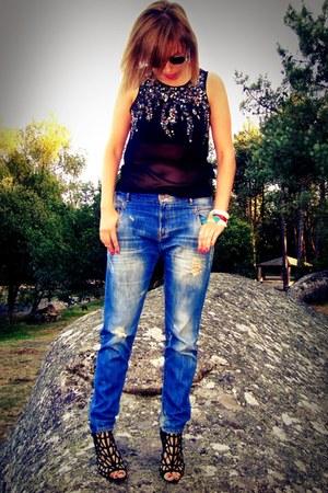 Zara jeans - Zara heels - Zara t-shirt