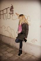 Zara boots - Vero Moda coat - Only jeans - desigual scarf