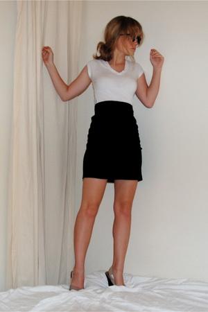 forever 21 shirt - American Apparel skirt - Charles David shoes - forever 21 sun