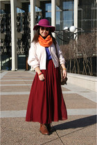 brick red American Apparel skirt - bronze Urban Outfitters shoes