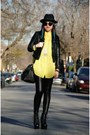 Black-jeffrey-campbell-boots-black-h-m-hat-yellow-american-apparel-shirt