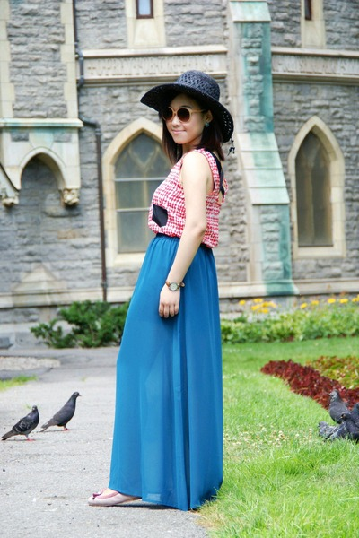 teal Urban Outfitters skirt