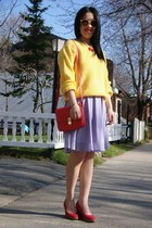 yellow Urban Outfitters sweater