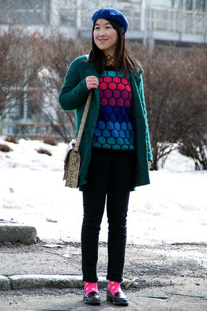teal Urban Outfitters coat