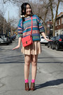 Teal-urban-outfitters-sweater-neutral-american-apparel-skirt