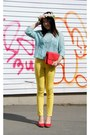 Yellow-forever-21-pants