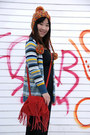 Black-jacobs-dress-orange-urban-outfitters-hat-red-urban-outfitters-bag
