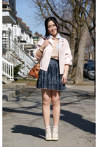gray American Apparel skirt - light pink American Apparel jacket