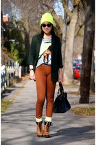 yellow beanie American Apparel hat - burnt orange Urban Outfitters boots