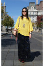 Yellow-cheap-monday-sweater-crimson-topshop-boots-black-forever-21-skirt