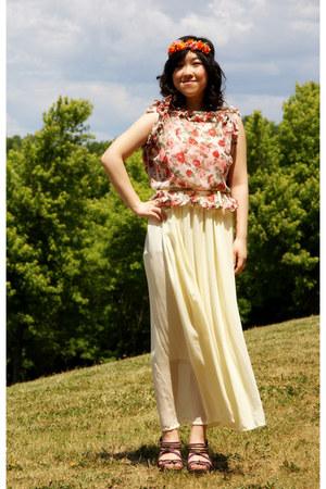 cream Forever 21 skirt