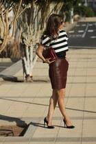 SANDRO skirt - Prada bag - Maje top