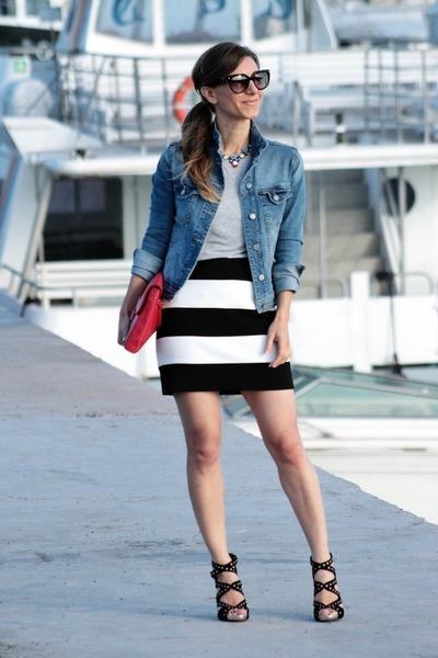 Zara jacket - Diane Von Furstenberg bag - Zara skirt