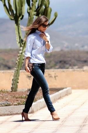 SANDRO blouse - Zara heels