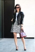 Mango jacket - Prada bag - Zara skirt