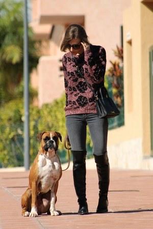 Bimba &amp Lola sweater - Maje jeans - Bimba &amp Lola bag