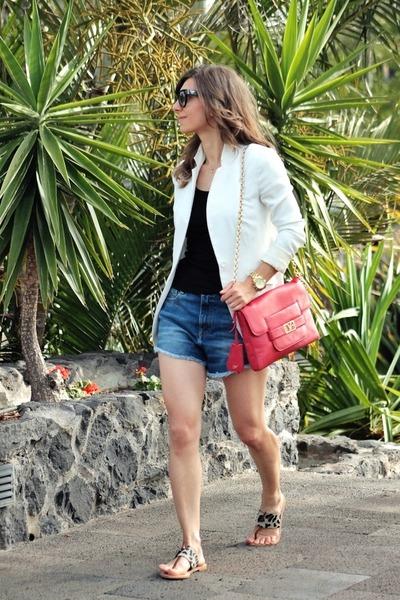 Penny Black blazer - Diane Von Furstenberg bag - Zara shorts