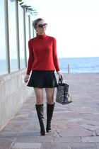 Christian Louboutin boots - Zara sweater - Furla bag
