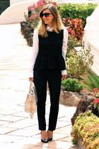 SANDRO top - Zara pants