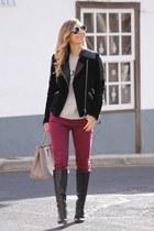 Victoria Beckham jeans - Mango jacket - Prada bag
