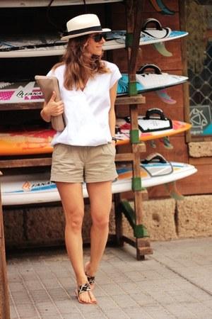 Zara top - Mango shorts