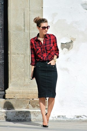 Zara shirt - Just Cavalli skirt
