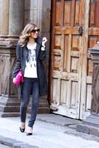 H&M coat - Maje jeans - Maje t-shirt