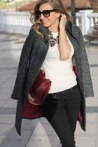 H&M coat - Burberry jeans - Prada bag
