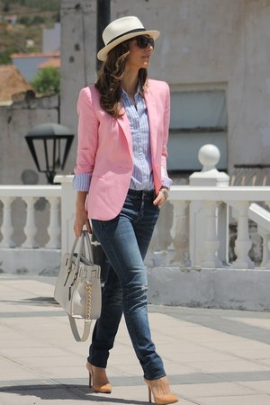 Zara blazer - Panama Jack hat - Michael Kors bag
