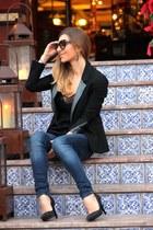 Mango jeans - Maje blazer - Zara top